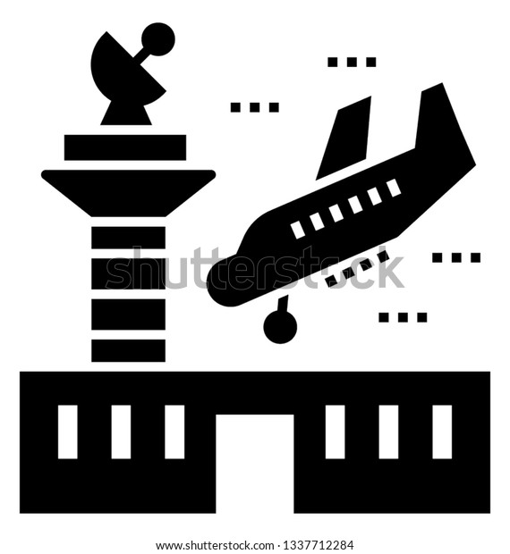 Vector Illustration Of Airport Terminal Air Traffic - Air Traffic  Controller Clipart , Free Transparent Clipart - ClipartKey
