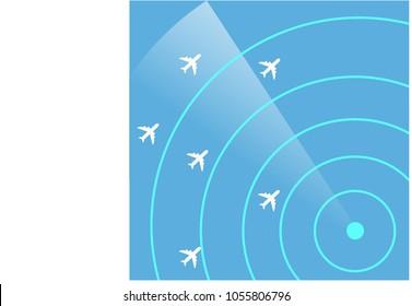 Air Traffic Control Radar Monitor  Show Flight  airline routes