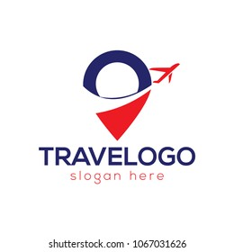Air travel logo template. Travel logo. Airplane logo
