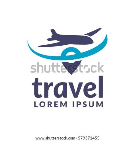 air travel logo template travel logo のベクター画像素材