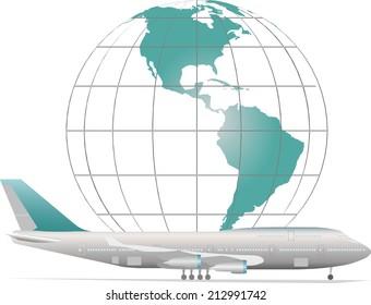 Air travel on aircraft around the world
