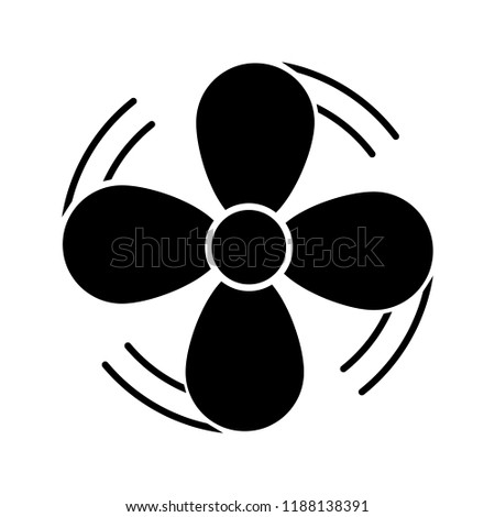 Air Ventilation Glyph Icon Exhaust Fan Stock Vector Royalty Free