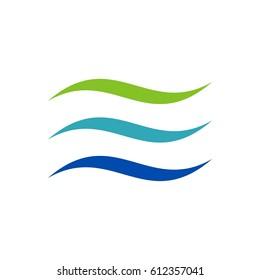 Air Wave Swoosh Colorful Logo Template Illustration Design. Vector EPS 10.