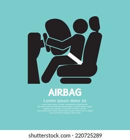 Airbag Car Safety Equipment Vector Illustration