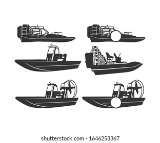 Airboat Sign Symbol Icon Printable Vector Illustration