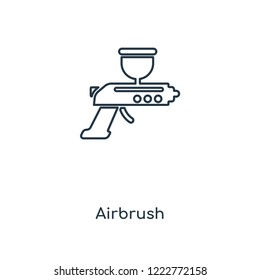 Airbrush concept line icon. Linear Airbrush concept outline symbol design. This simple element illustration can be used for web and mobile UI/UX.