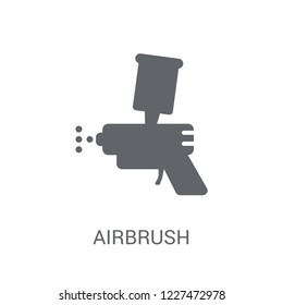 Airbrush icon. Trendy Airbrush logo concept on white background from Museum collection. Suitable for use on web apps, mobile apps and print media.