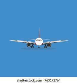 Airbus A320 landing Vector