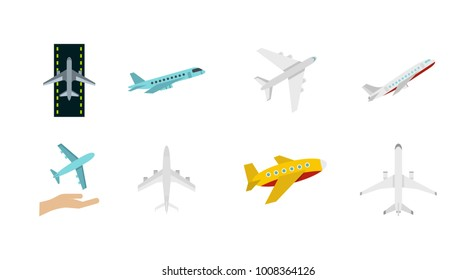 Airbus icon set. Flat set of airbus vector icons for web design isolated on white background