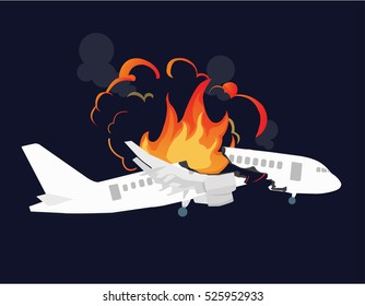 Aircraft accidents vector illustration