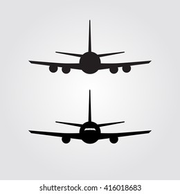 Aircraft or Airplane Icon, Airplane Icon Art. Airplane Icon Picture. Airplane Icon Image. Airplane Icon logo. Airplane Icon Flat. Airplane icon app. Flat Minimal Vector Silhouette on white background