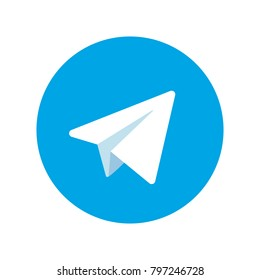 Aircraft blue vector logo   Paper airplane icons