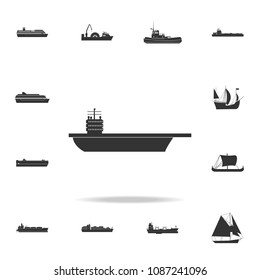 aircraft carrier icon. Detailed set of water transport icons. Premium graphic design. One of the collection icons for websites, web design, mobile app on white background