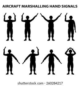 aircraft carrier marshal hand signals
