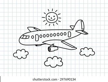 airplane drawing images stock photos vectors shutterstock