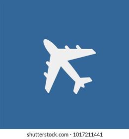 Aircraft flat vector icon