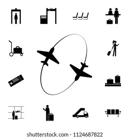 aircraft flight icon. Detailed set of Airport icons. Premium quality graphic design sign. One of the collection icons for websites, web design, mobile app on white background