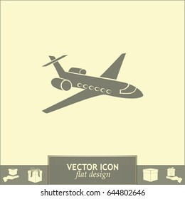 Aircraft flying around the earth. Sign of transport and tourism