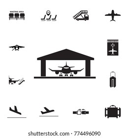 Aircraft Hangar icon. Set of airport element icons. Premium quality aviation graphic design collection icons for websites, web design, mobile app on white background