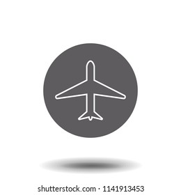 Aircraft icon. Flat vector illustration