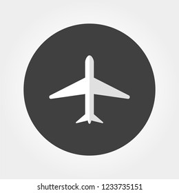 Aircraft icon. Flat vector illustration.