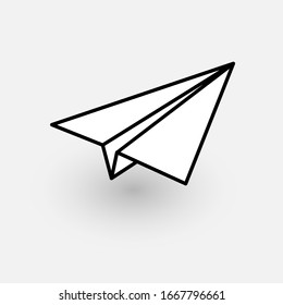 Aircraft icon. Graphic template. Vector illustration