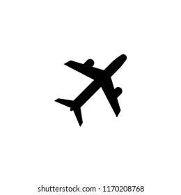 aircraft icon on white background,vector symbol