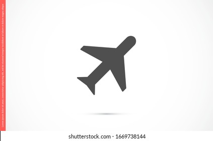 Aircraft icon Passenger air transportation. Airport Sign Flat Design. Airplane Icon Vector Template. Passenger air transportation.