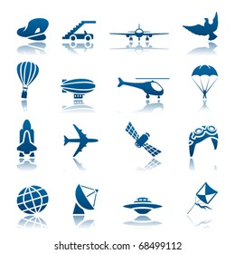Aircraft icon set