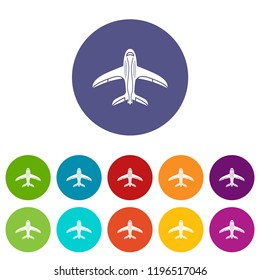 Aircraft icon. Simple illustration of aircraft vector icon for web