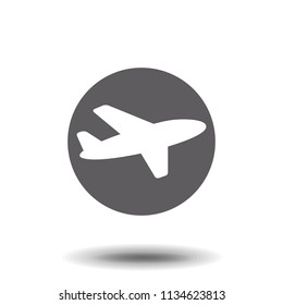 Aircraft icon. Travel Vector isolated on white background. Flat vector illustration in black. EPS 10