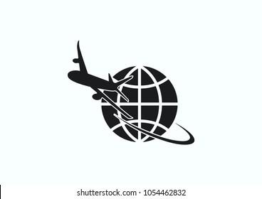 Aircraft icon. Vector illustration.Passenger air transportation