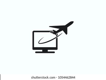 Aircraft icon. Vector illustration.Passenger air transportation