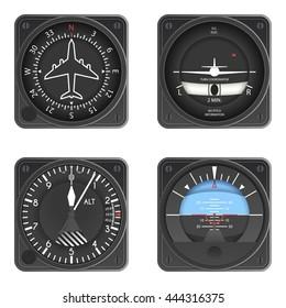 Aircraft Instruments Set
