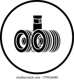 aircraft landing gear symbol