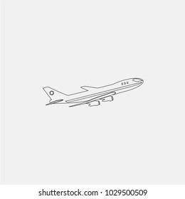 aircraft line icon vector illustration. transportation icon vector