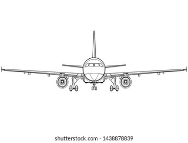 Aircraft Outline Drawing Images Stock Photos Vectors Shutterstock