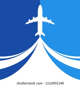 Aircraft and place for your text. Vector Illustration