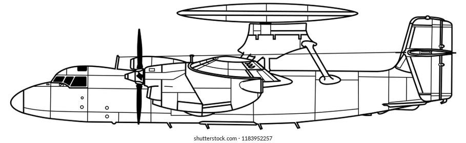 Aircraft profile. Grumman Е-2A HAWKEYE