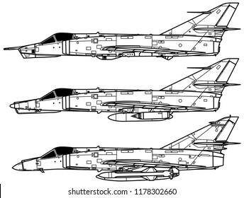 Aircraft profiles. Dassault ETENDARD