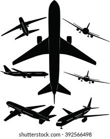 Aircraft silhouettes