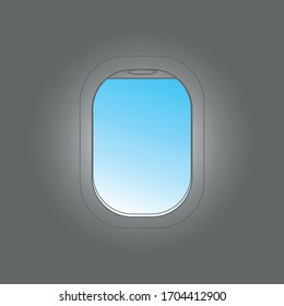Aircraft window. Vector illustration with place for your text