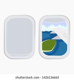 Aircraft Windows,airplane windows,window of airplane vector illustration