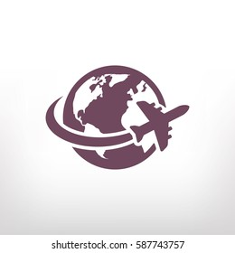 aircraft world vector icon