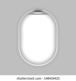 Aircraft's window. Vector.