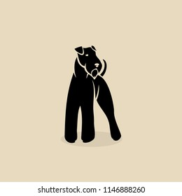 Airedale terrier dog - bingley - isolated vector illustration