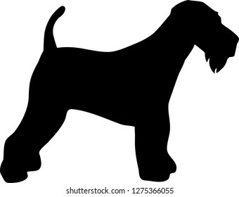 Airedale Terrier silhouette real in black