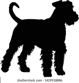 Airedale Terrier Silhouette Vector Style