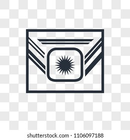 Airforce vector icon isolated on transparent background, Airforce logo concept