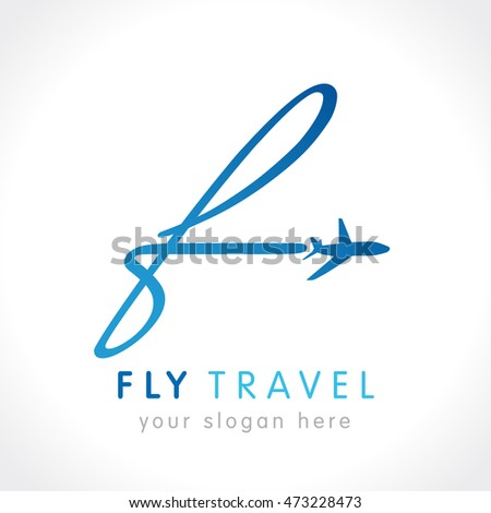 airline business travel logo design letter のベクター画像素材